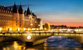 the seine night view