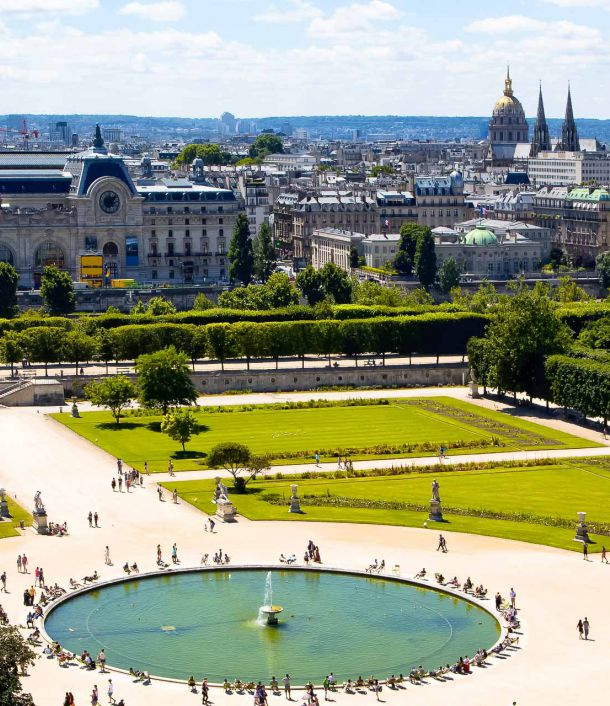 Tuileries gardens in Paris