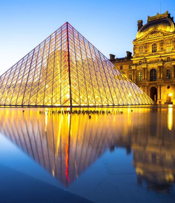 The pyramid of the Louvre Paris
